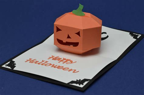 3d Pumpkin Card Template Pdf 3d pumpkin pop up card template creative pop up cards
