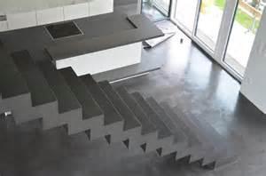 fliesen fã r treppen beton falttreppe beschichtet fa besserbauen roomido