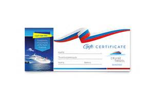 cruise travel gift certificate template word amp publisher