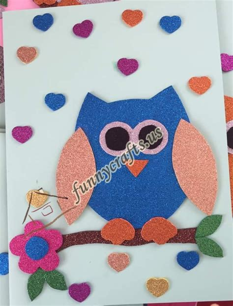 craft with owl craft with foam 2 171 preschool and homeschool