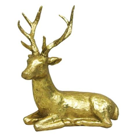 resin laying deer figurine gold threshold target