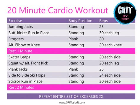 cardio workout archives grit by brit