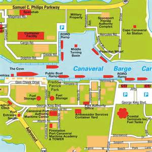 map port canaveral fl florida usa maps and directions