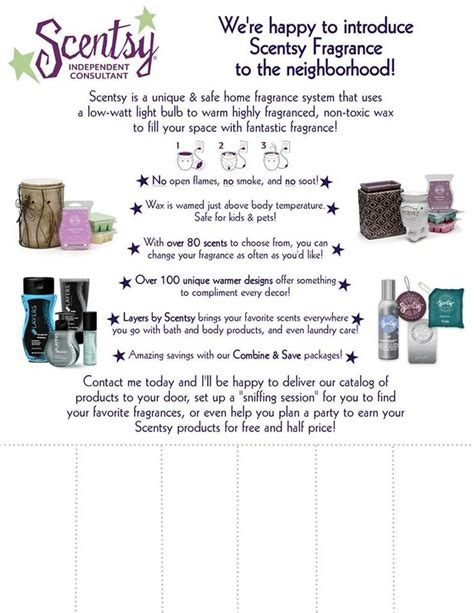 Tear Off Sheet Edit With Your Info And Have It Reapproved Scentsy Flyer Templates