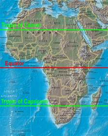 united states map with equator regions of africa