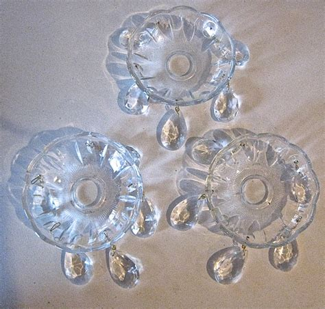 chandelier bobeche suppliers chandelier bobeches three clear glass candle rings wax catchers with teardrop crystals 5