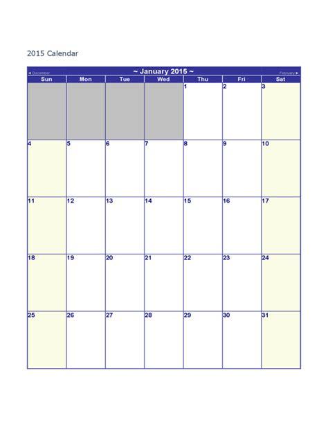 Calendar Blank 2015 Blank 2015 Calendar Free