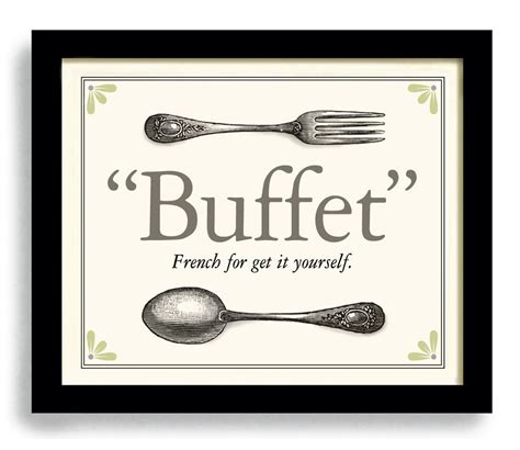 buffet sayings kitchen print kitchen decor buffet cooking quote