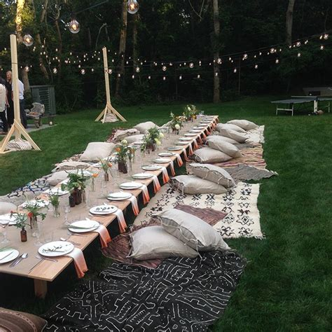 25 best ideas about outdoor dinner on