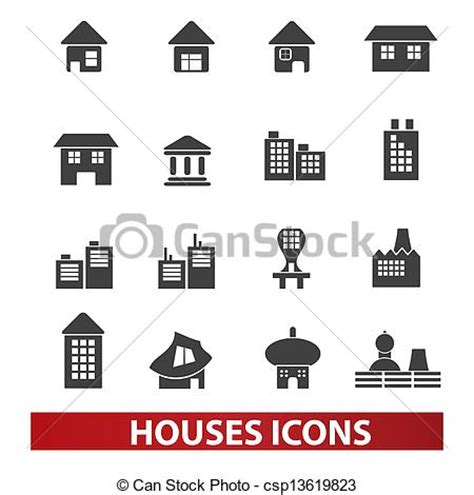 set houses drawings stock photo photo vector illustration vector illustration of houses building icons set vector
