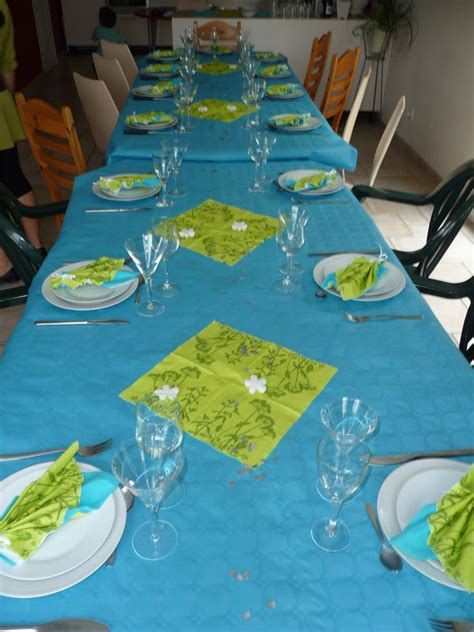 Decoration De Table Bleu Turquoise by Table Vert Anis Et Turquoise