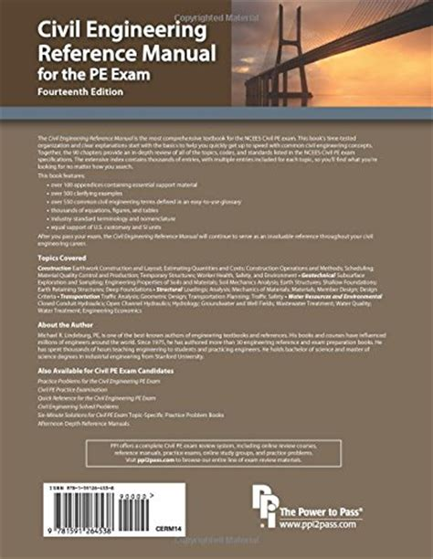 civil engineering reference manual for the pe 15th ed mechanical engineering reference manual for the pe
