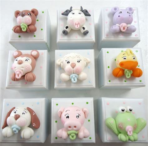 Polymer Clay Baby Shower Favors by Pin By Cuellar On Pasta Francesa Bebe