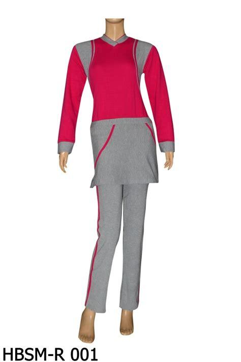 Baju Senam Perempuan baju senam muslimah hbsm r 001 toko baju renang