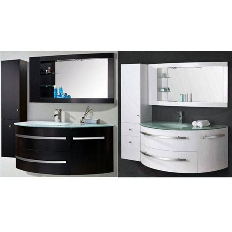 mobile bagno nero mobile bagno desy 120 30 cm nero o bianco lavabo in