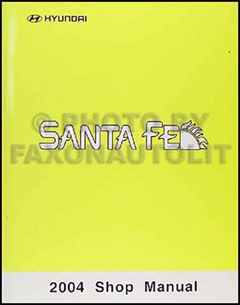where to buy car manuals 2004 hyundai santa fe lane departure warning 2004 hyundai santa fe electrical troubleshooting manual original