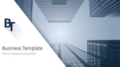 business template minimalist business powerpoint template