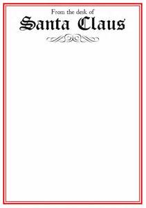 santa letterhead template best photos of letter from santa stationary template