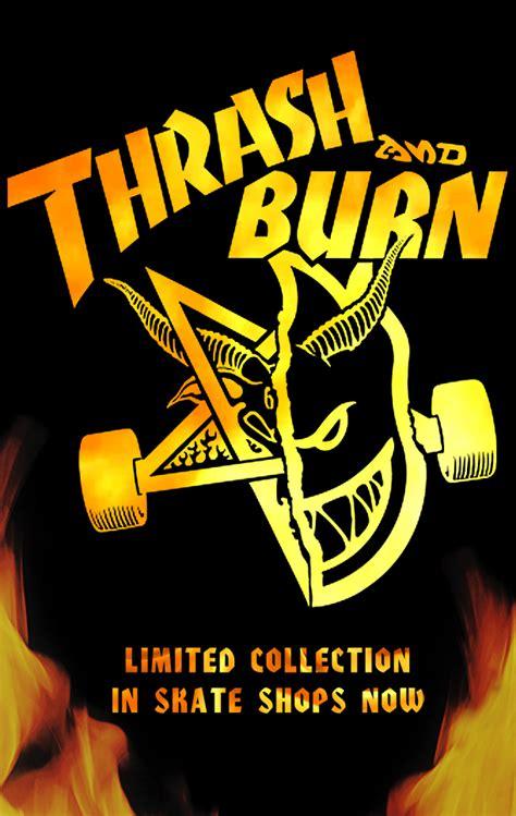 Kaos Murah Thrasher Font Burn thrasher skateboard magazine thrash and burn collection
