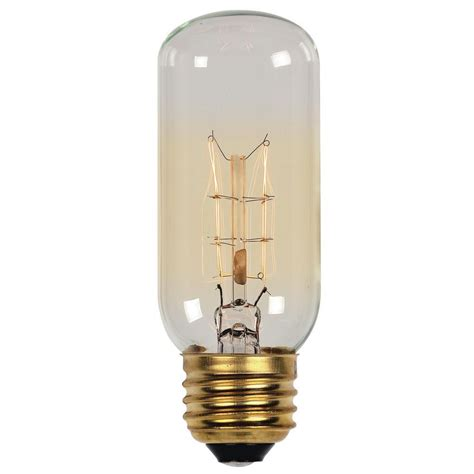 T12 Light Fixtures Westinghouse 40 Watt Timeless Vintage Inspired Incandescent T12 Light Bulb 0412800 The Home Depot
