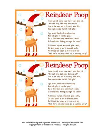 printable reindeer labels reindeer poop i hope my family likes this because