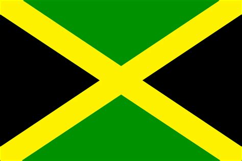 flag of jamaica coloring page print color