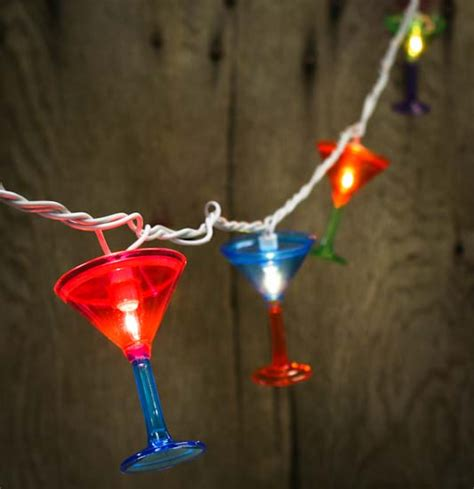 Electric Patio Lights 10ct Martini Glass Electric Patio Garden String Lights Lighting And