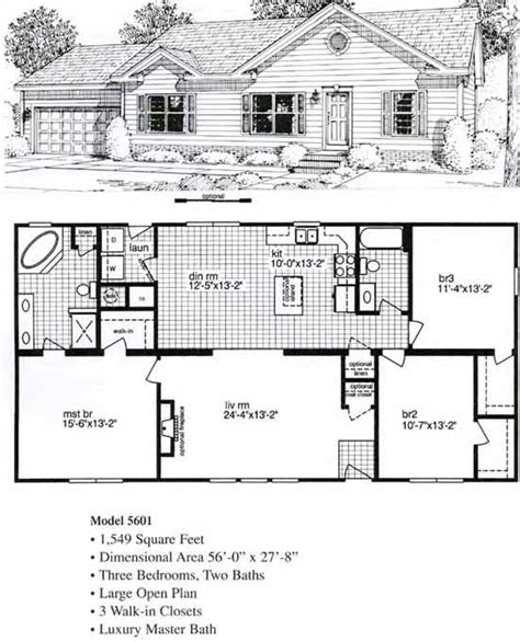 ranch modular home floor plans bahama bay bsn homes