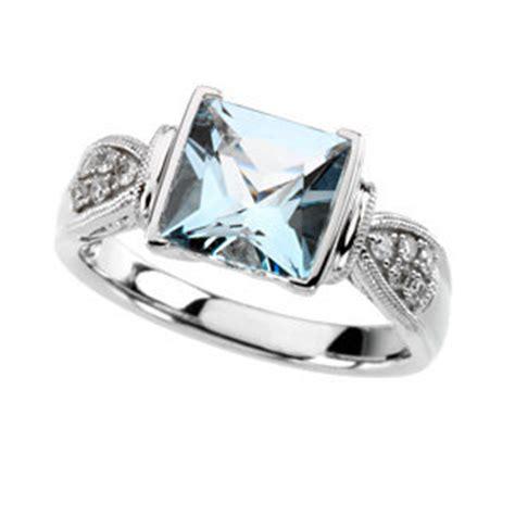 clarionfinejewelry princess cut aquamarine ring