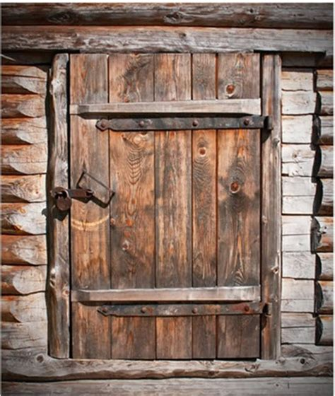 New Cool Old Barn Rustic Wood Door Bath Shower Curtain Barn Door Curtains