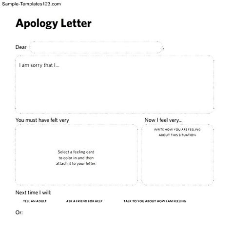 Apology Letter Template To Friend Apology Letters To Friend Sle Templates