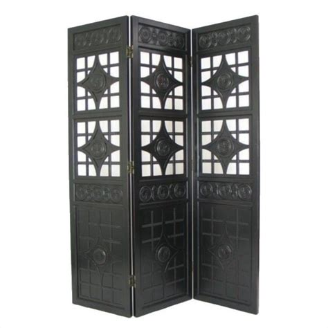 Lattice Room Divider Lattice Room Divider In Antique Black 2364b