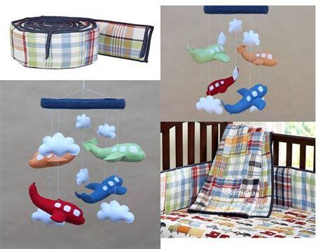 Baby Crib Mobile Airplane Baby Mobile Red Green Orange Pottery Barn Airplane Crib Bedding