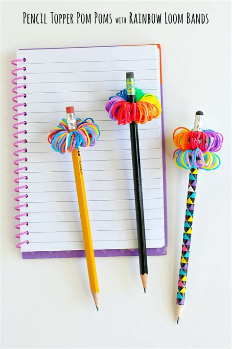 How To Make A Paper Pencil - rainbow loom band pencil toppers make and takes