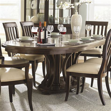 Dining Room Furniture Maryland | bernhardt westwood oval double pedestal dining table with