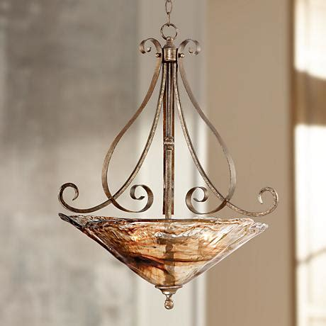Franklin Iron Works Chandelier Franklin Iron Works Scroll 24 3 4 Quot Wide Pendant 66096 Ls Plus