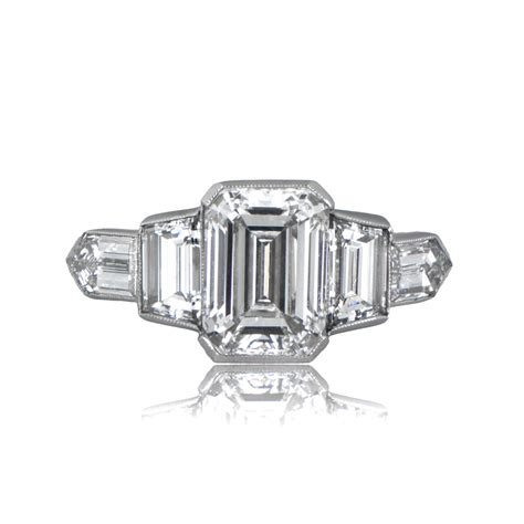 Emerald Cut Engagement Rings by 2 01ct Estate Emerald Cut Engagement Ring