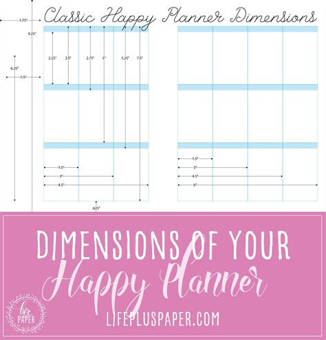 free printable planner pages classic size happy planner dimensions layout dimensions for both the