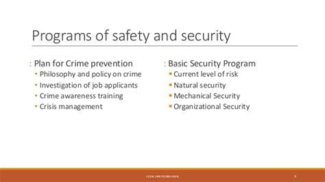 Mba In Safety And Security Management by Employee Safety And Health