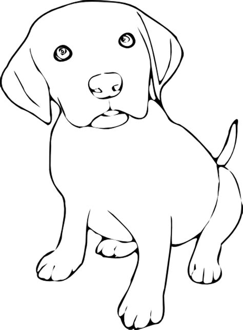 Black Lab Outline Coloring Pages