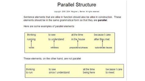 eng 10 quarter 1 parallel structure