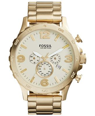 Nate Chronograph Gold Tone Stainless Steel fossil s chronograph nate gold tone stainless steel