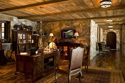 rustic home office 15 exquisite home offices with stone walls