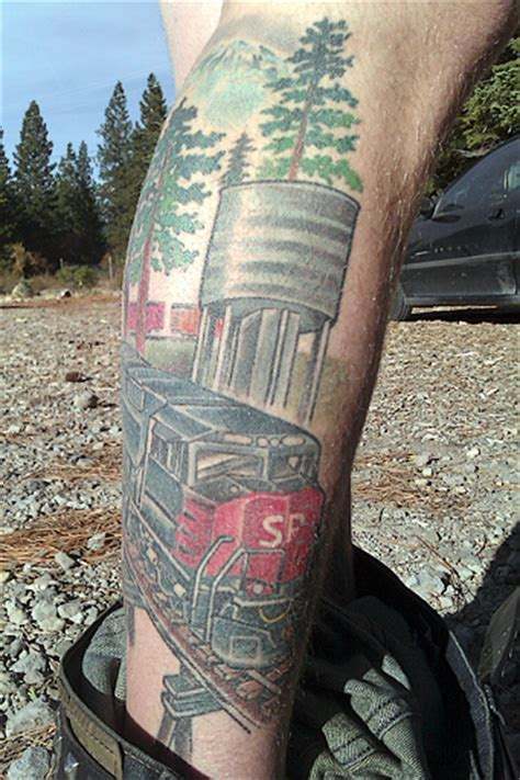 railroad tattoos railroad tattoos part 1