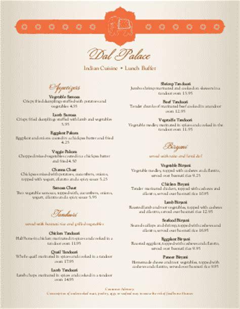 indian spice menu indian menus