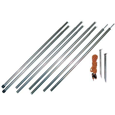 fiberglass awning poles aluminum awning pole kit