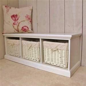 3 basket storage bench cream 3 basket storage bench bliss and bloom ltd