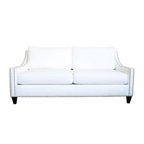 white leather sofa with nailheads white sofa with nailhead trim sofa menzilperde net