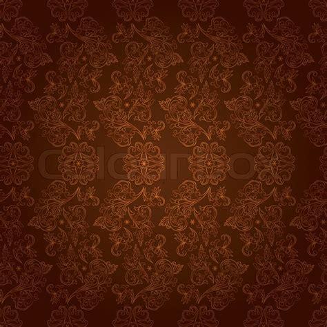 brown pattern design vintage floral seamless pattern on brown stock vector