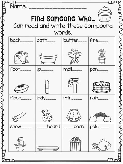 printable word games for 4th graders compound spelling words 4th grade 1000 ideas about